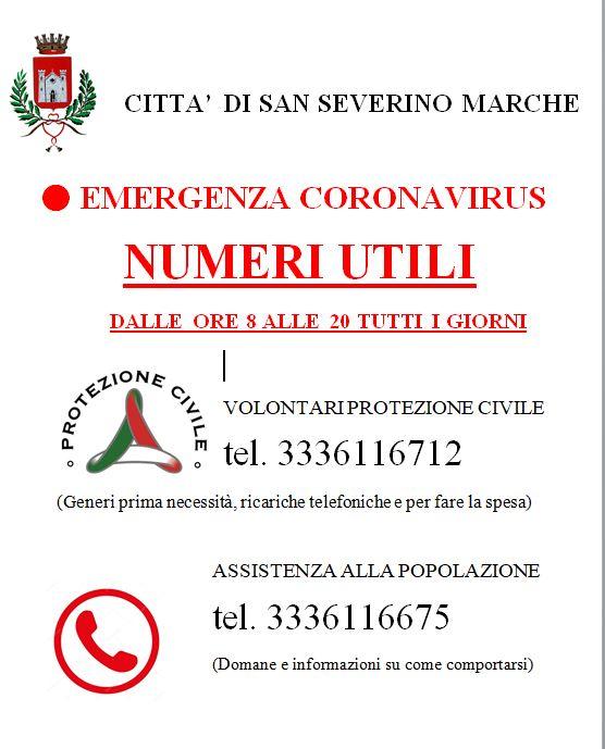 Loc Numeri Utili Coronavirus
